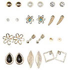 Charlotte Russe Mixed Stud Earrings - 12 Pack