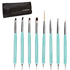 Amazon BMC Super Cute Turquoise 8pc Dual Sided Nail Art Brush and Dotting Tool Set