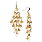 Target Pearl and Crystal Kite Dangle Earring - Gold