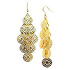 Target Fashion Dangle Earrings - Gold