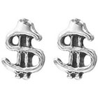 Target Dollar Sign Stud Earrings - Silver