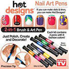 Amazon Hot Designs Nail Art Pens- Combo Set (Basic Beauty and Glitz and Glam)