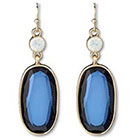Target Long Stone Dangle Earrings - Blue/Gold