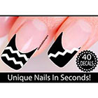 Amazon Zig Zag Nail Stickers - Thinner Style Chevron Nail Stickers - Chevron Nail Art (Classic White)