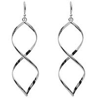 Target Sterling Silver Twisted Dangle Earrings