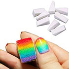 FUNOC 8PCS Womens Nail Art Sponge Stamp Stamping Polish Transfer DIY Manicure Supplies in
