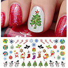 Moon Sugar Decals Christmas Holiday Assortment Water Slide Nail Art Decals in