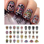 Moon Sugar Decals Sugar Skull Nail Decals in