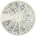 MoYou Silver Moon Rhinestone Pack of 1200 Crystal Premium Quality Gemstones in