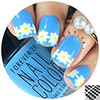 Twinkled T Daisy Flower Nail Vinyls in