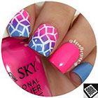 Twinkled T Diamond Stencils Nail Vinyls in