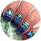 Becky G Purple Red Teal Yellow Leopard Print Nail Art