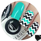 Twinkled T Skinny Chevron Zig Zag Nail Tape in
