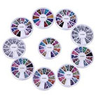 VAGA 10 Wheels Premium Manicure Nail Art Decorations Total of 15000 Gems in
