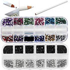 VAGA Best Quality Professional Nail Art Set Kit With White Wax Rhinestones Picker Pencil in
