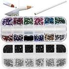 VAGA Best Quality Professional Nail Art Set Kit With White Wax Rhinestones Picker Pencil in