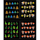 Zeagoo Christmas Tree 3D Nail Art Sticker Decal Tips Decoration in